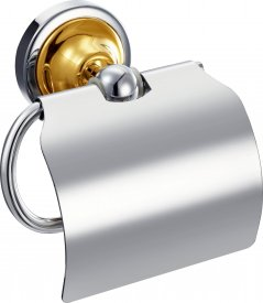 toilet paper holder Chrome and gold