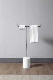 Towel rack made in solid surface