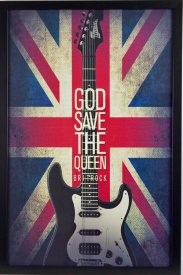 tavla och poster Britrock god save the queen