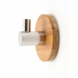 Self-Adhesive Hook Bamboo Stainless Steel Ø 50mm